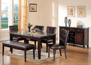Image for Danville Black Marble/Walnut Dining Table