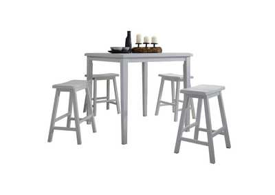 Image for Gaucho White 5Pc Pk Counter Height Set