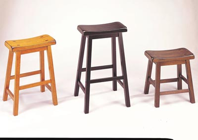 Image for Gaucho Walnut Counter Height Stool (Set-2)