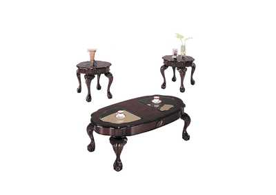 Image for Canebury Cherry/Smoky Glass Occational Table Set (Set of 3)