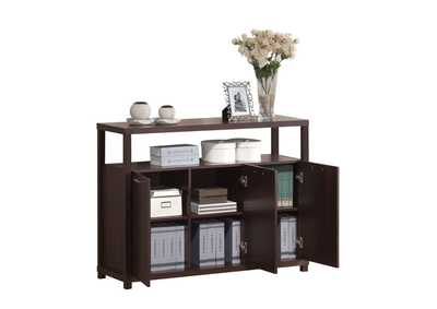 Image for Hill Espresso Console Table (3 Doors)