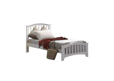 Image for San Marino White Twin Bed