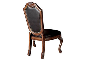 Image for Chateau De Ville Black/Cherry Side Chair (Set of 2)