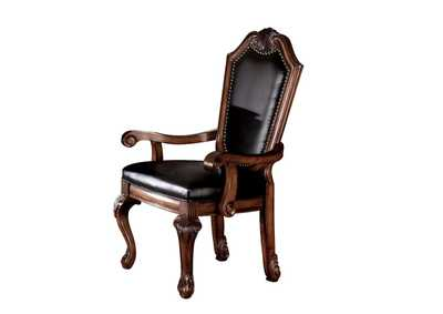 Image for Chateau De Ville Black PU & Cherry Chair
