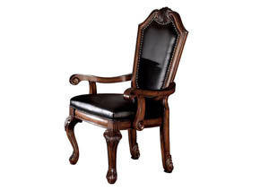 Image for Chateau De Ville Black/Cherry Arm Chair (Set of 2)