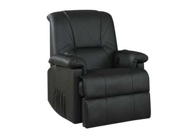 Image for Reseda Black PU Recliner