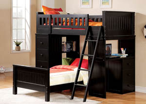 Image for Willoughby Black Twin Bed