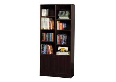 Image for Verden Espresso Bookcase w/2 Doors