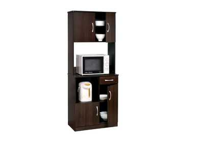Image for Quintus Espresso Kitchen Cabinet