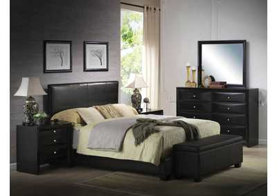 Image for Ireland III Black PU Queen Bed