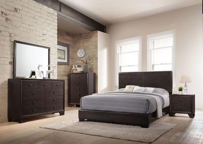 Ireland III Brown Queen Platform Bed w/Dresser and Mirror,Acme
