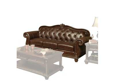 Image for Anondale Espresso Top Grain Leather Match Sofa