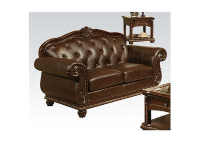 Image for Anondale Espresso Top Grain Leather Match Loveseat