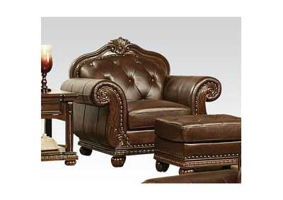 Image for Anondale Espresso Top Grain Leather Match Chair