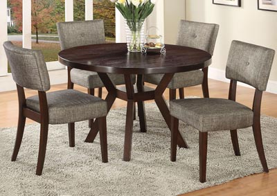 Drake Gray/Espresso Side Chair (Set of 2)