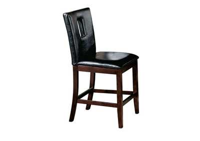 Image for Britney Black PU & Walnut Counter Height Chair