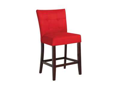 Image for Baldwin Red Microfiber & Walnut Counter Height Chair