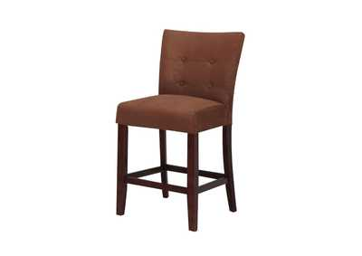 Image for Baldwin Chocolate Microfiber & Walnut Counter Height Chair