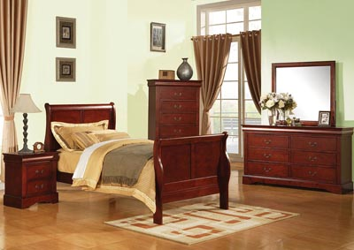 Image for Louis Philippe III Cherry Twin Bed