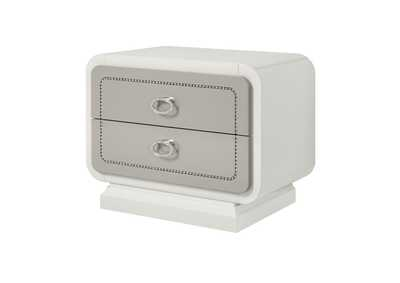 Image for Allendale Ivory & Latte High Gloss Nightstand