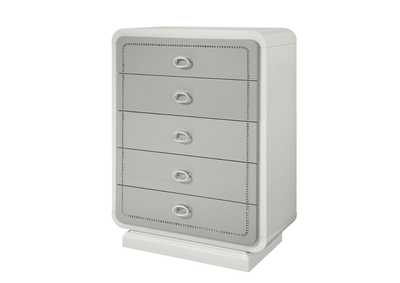 Allendale Ivory & Latte High Gloss Chest,Acme