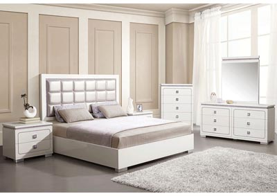Image for Valentina Pearl/White Eastern King Bed