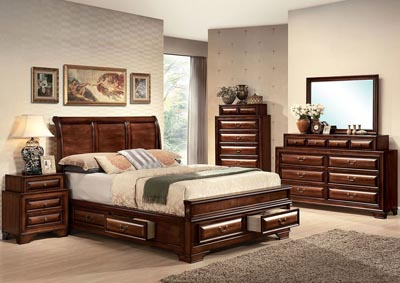 Image for Konane Brown Eastern King Bed