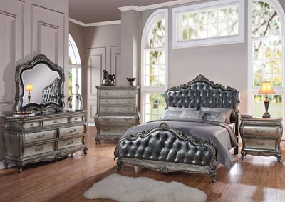 Image for Chantelle Gray/Platinum California King Bed