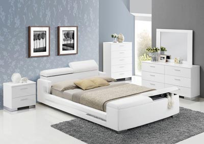 Image for Layla White Eastern King Bed