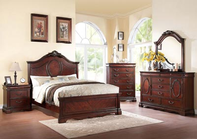 Estrella Cherry California King Bed