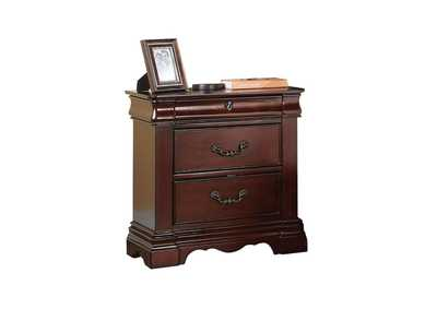 Estrella Dark Cherry Nightstand,Acme