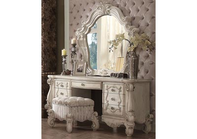 Image for Versailles Ivory White Vanity Stool