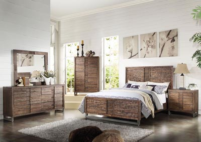 Image for Andria Reclaimed Oak Queen Bed