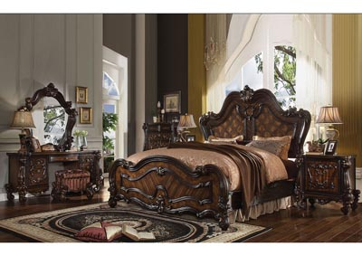 Versailles Cherry Oak California King Bed w/Dresser and Mirror,Acme