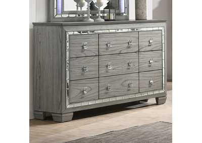 Antares Light Gray Oak Dresser,Acme
