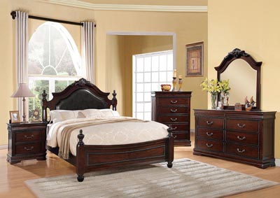 Image for Gwyneth Black/Cherry California King Bed
