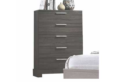 Lantha Gray Oak Chest,Acme