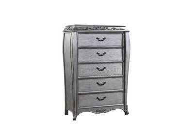 Leonora Vintage Platinum Chest,Acme