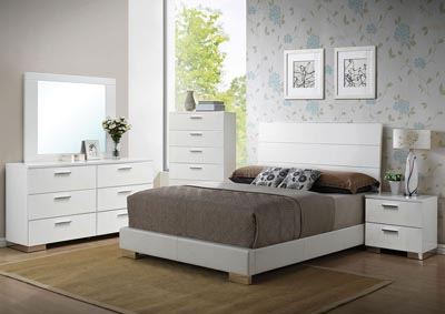 Image for Lorimar White Dresser and Mirror