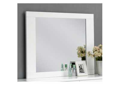 Image for Lorimar White & Chrome Leg Mirror