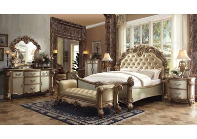 Image for Vendome Bone/Gold Patina Eastern King Bed