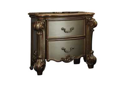 Vendome Gold Patina & Bone Nightstand,Acme