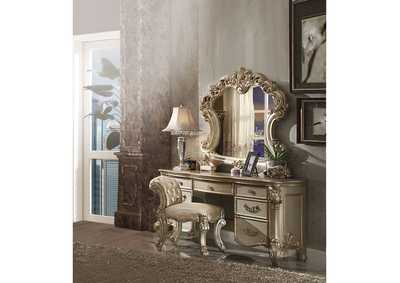 Image for Vendome Gold Patina/Bone Mirror