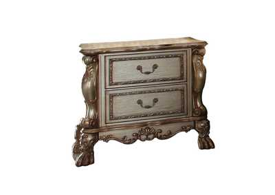 Dresden Gold Patina & Bone Nightstand,Acme