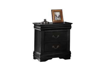 Louis Philippe Black Nightstand,Acme