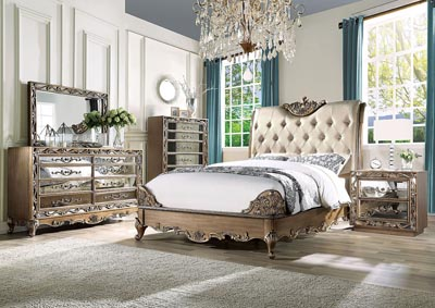 Image for Orianne Champagne/Antique Gold Eastern King Bed