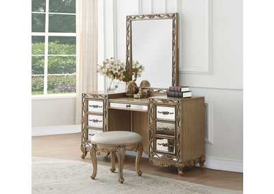 Image for Orianne Antique Gold Vanity Desk