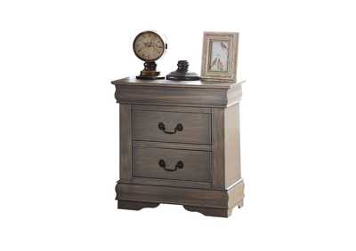 Louis Philippe Antique Gray Nightstand,Acme