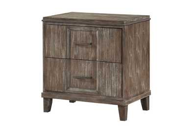Bayonne Burnt Oak Nightstand,Acme