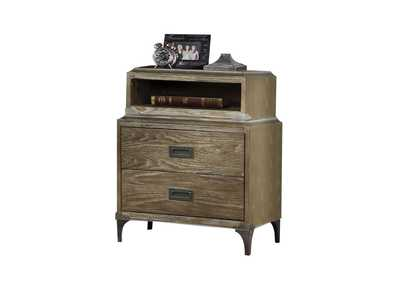 Athouman Weathered Oak Nightstand,Acme